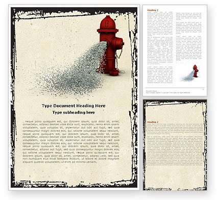 Fire Hydrant Word Template, 05047, Careers/Industry — PoweredTemplate.com