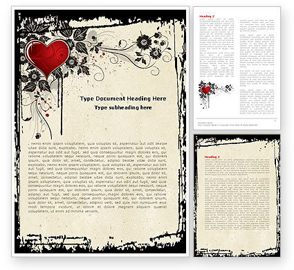 Love Ornament Word Template, 05050, Holiday/Special Occasion — PoweredTemplate.com