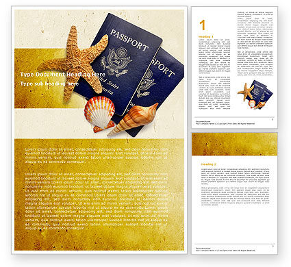 Traveling Abroad Word Template