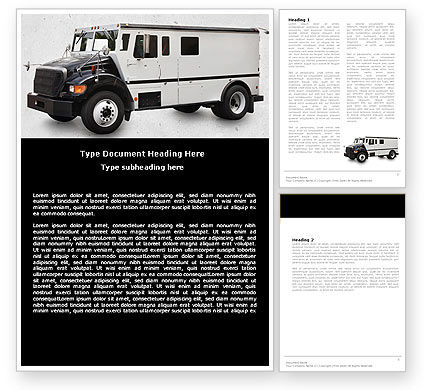 Free Armored Car Word Template, 05059, Careers/Industry — PoweredTemplate.com