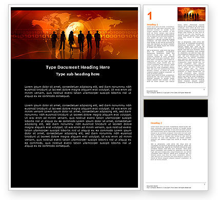 Success Story Word Template, 05060, Careers/Industry — PoweredTemplate.com