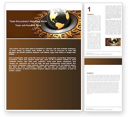 Financial/Accounting: Global Currency Word Template #05065