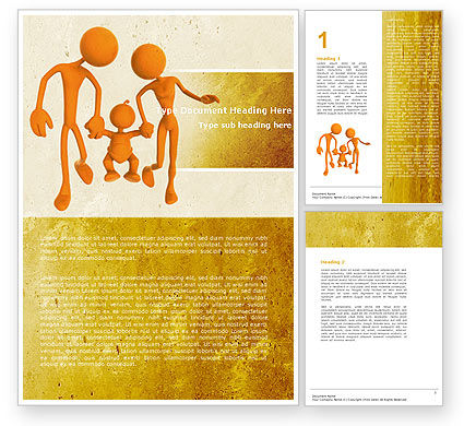 Support Of Parents Word Template, 05068, Education & Training — PoweredTemplate.com