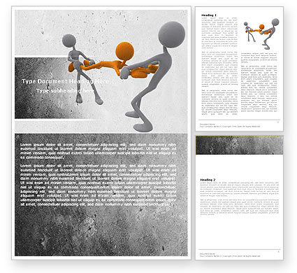 Contradiction Word Template, 05078, Consulting — PoweredTemplate.com