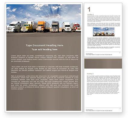 Trucks Word Template, 05080, Cars/Transportation — PoweredTemplate.com