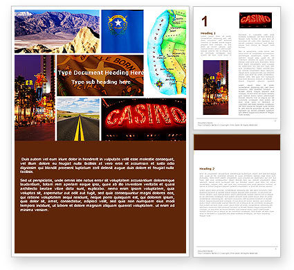 Nevada Word Template, 05084, America — PoweredTemplate.com