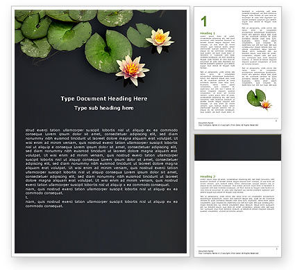 Nature & Environment: Water Lily Word Template #05090