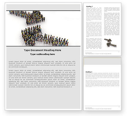 Consulting: Moving Crowd Word Template #05097
