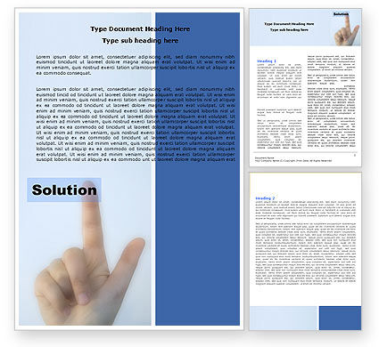 Indication Of Solution Word Template, 05102, Consulting — PoweredTemplate.com