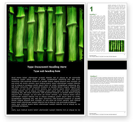 Nature & Environment: Green Bamboo Word Template #05104