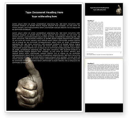 Business Concepts: Thumbs Up Word Template #05106