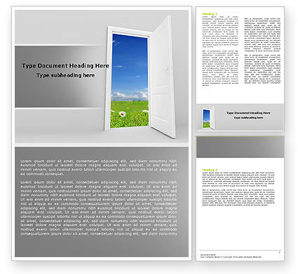 Exit Word Template, 05111, Business Concepts — PoweredTemplate.com