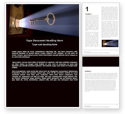 Consulting: Keyhole With Light Beam Word Template #05113