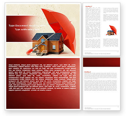 Safe Home Word Template, 05116, Financial/Accounting — PoweredTemplate.com