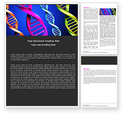 DNA Spirals Word Template, 05117, Sports — PoweredTemplate.com