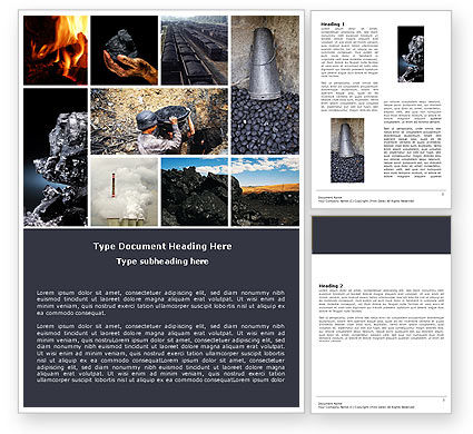Coal Word Template, 05121, Utilities/Industrial — PoweredTemplate.com