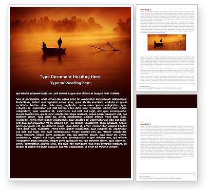 Recreational Fishing Word Template, 05122, Nature & Environment — PoweredTemplate.com