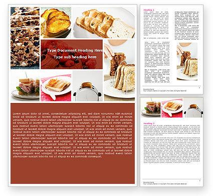 Food & Beverage: Toast Word Template #05125