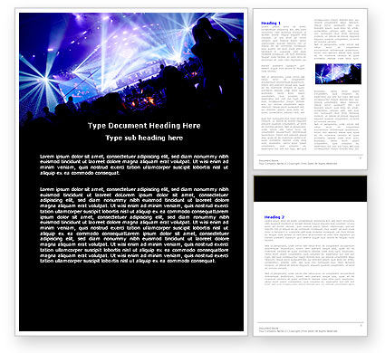 Art & Entertainment: Music Show Word Template #05126