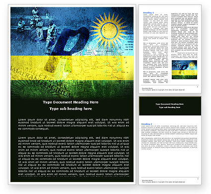Rwanda Word Template, 05127, Flags/International — PoweredTemplate.com