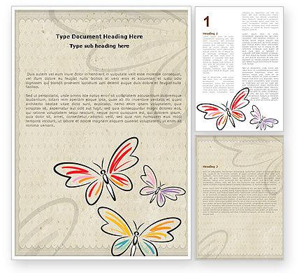 Abstract/Textures: Schmetterlinge Word Vorlage #05134