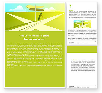 Crossroad Sign Word Template, 05137, Consulting — PoweredTemplate.com