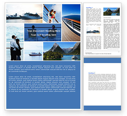Art & Entertainment: Cruise Word Template #05138