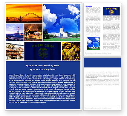 Oregon Word Template, 05142, America — PoweredTemplate.com