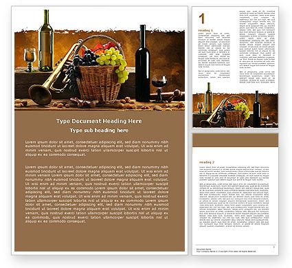 Winemaking Word Template, 05145, Food & Beverage — PoweredTemplate.com