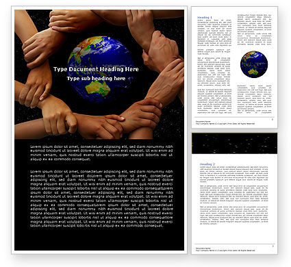 Global: Holding Hands Word Template #05147