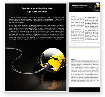 Plugged In Word Template, 05153, Global — PoweredTemplate.com