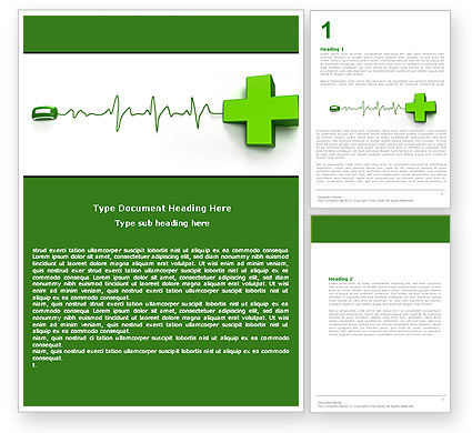 Medical Website Word Template, 05159, Medical — PoweredTemplate.com