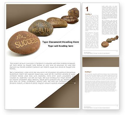 Feng Shui Stones Word Template