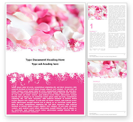 Holiday/Special Occasion: Petals Word Template #05167