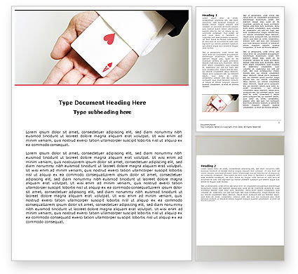Ace of Hearts Word Template, 05168, Consulting — PoweredTemplate.com