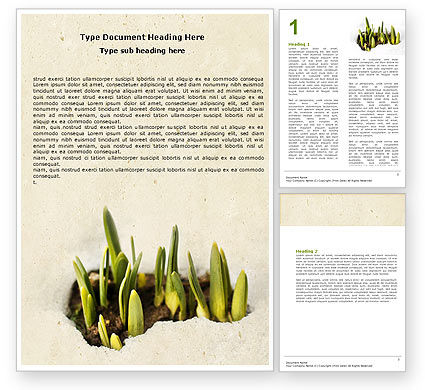Nature & Environment: Snowdrop Word Template #05170
