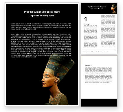 Education & Training: Nefertiti Word Template #05189