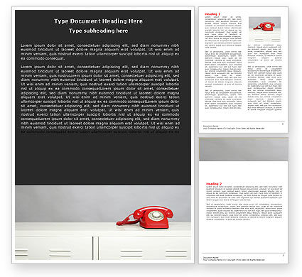 Emergency Line Word Template, 05198, Telecommunication — PoweredTemplate.com
