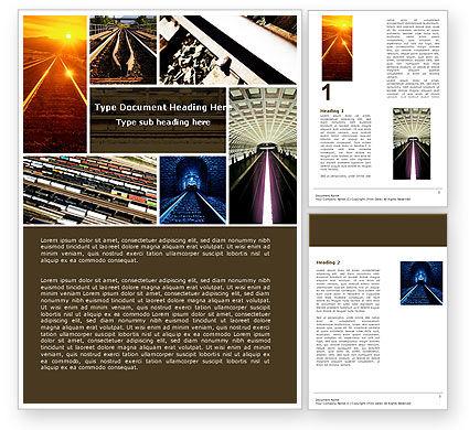 Utilities/Industrial: Railroad Word Template #05199