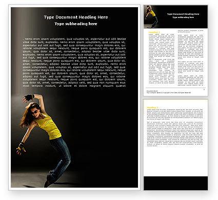People: Modern Dance Word Template #05205
