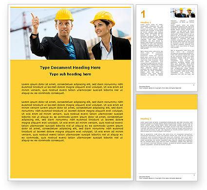 Building Engineers Word Template, 05224, Careers/Industry — PoweredTemplate.com