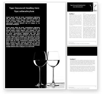 Black and White Word Template, 05226, Careers/Industry — PoweredTemplate.com