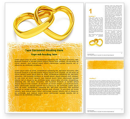 Holiday/Special Occasion: Wedding Day Word Template #05229