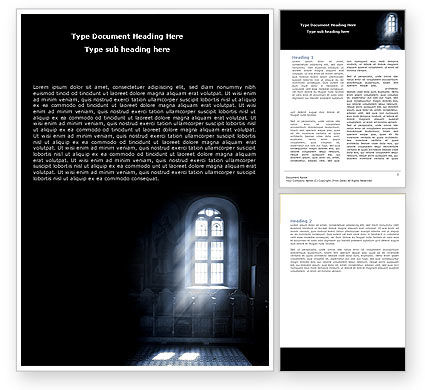 Religious/Spiritual: Window In the Church Word Template #05230