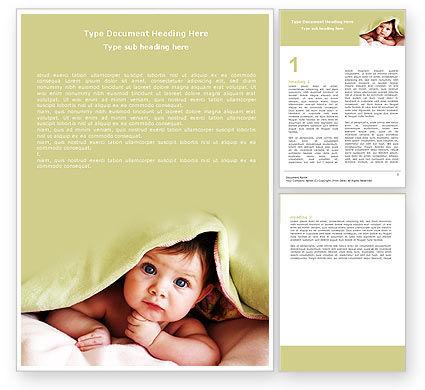 Baby Under Blanket Word Template, 05234, People — PoweredTemplate.com
