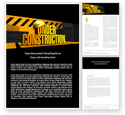 Business Concepts: Closed Under Construction Word Template #05236