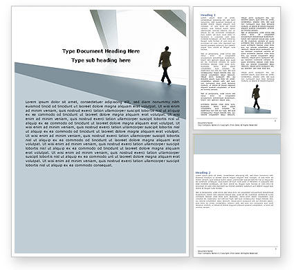 Business: Walking Man Word Template #05240