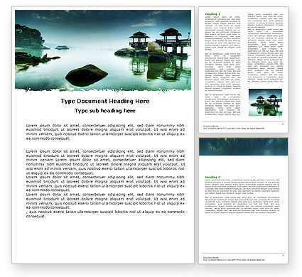 Nature & Environment: Calm Word Template #05244