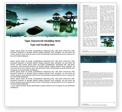 Calm Word Template, 05244, Nature & Environment — PoweredTemplate.com