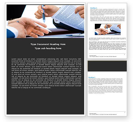 Negotiation In Progress Word Template, 05249, Business — PoweredTemplate.com
